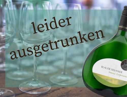 Aktuell ausgetrunken – Nachschub kommt